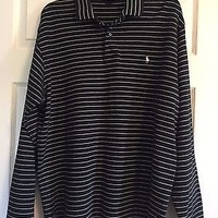 Men's POLO by RALPH LAUREN Long Sleeve Pullover Shirt, Sz XL
