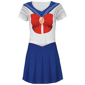 Anime Moon Sailor Costume Juniors V-Neck Beach Cover-Up Dress