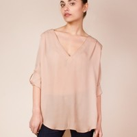 Safari Shirt in Nude by Charlie by Matthew Zink - ShopKitson.com