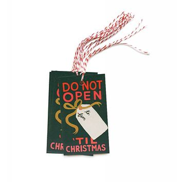 Do Not Open 'Til Christmas Gift Tags