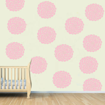PACK OF 10 Flower Blooms for Nursey or girls room Wall decal sticker art