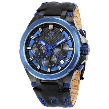 Brooklyn Malcolm Blue Sports Swiss Quartz Choronograph Mens Watch