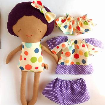 Shop personalized rag dolls on wanelo african american rag doll dress up black doll large mixed race kids custom gift negle Images