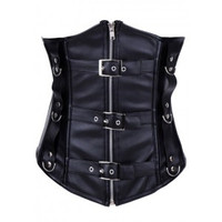 After the Rain Lingerie - Leather Corset - OL1254