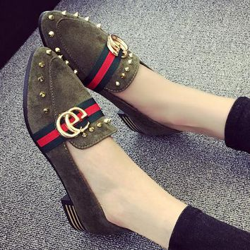 GUCCI Women Fashion Casual Low Heel Shoes