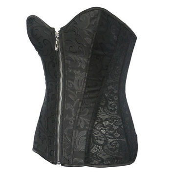 Hot Deal On Sale Cute Palace Slim Sexy Zippers Corset Push Up Exotic Lingerie [6595866691]