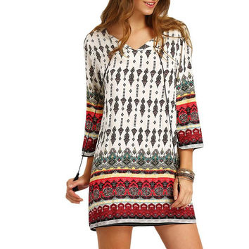 Print One Piece Dress [6338686276]