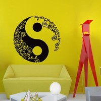 Wall Decal Vinyl Sticker Decals Yin Yang Pattern Symbol Wall Decor Art Mural Na102