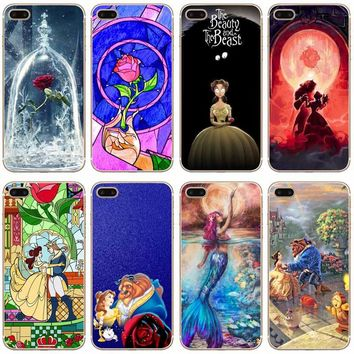 H045 Beauty And The Beast Transparent Hard Thin Case Cover For Apple iPhone XR XS Max 4 4S 5 5S SE 5C 6 6S 7 8 X Plus