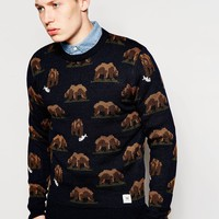 Bellfield Jumper With Bear Jacquard