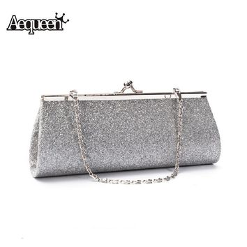 AEQUEEN Fashion Dazzling Glitter Sparkling Bling Sequin Shoulder Party Evening Bag Chain Wedding Handbag Women Clutch Bags