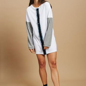 **Jersey Dress with Contrast by Ragged Priest | Topshop