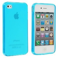 Amazon.com: Frost Light Blue TPU Rubber Skin Case Cover for Apple iPhone 4 4G 4S: Cell Phones & Accessories