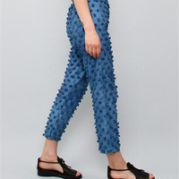 Creatures of Comfort Asher Pant- Puff Cotton Indigo