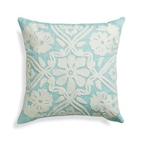 Fleur Pillow with Down-Alternative Insert.