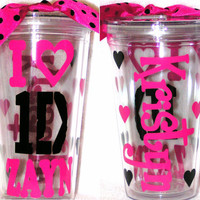 Personalized Custom Acrylic Tumbler Cup w/ Straw 1 Direction One Zayn