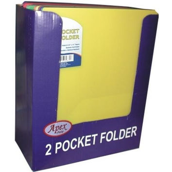 "Two Pocket Plastic Folders - 9.5"" x 11.5"""