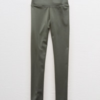 Aerie Chill Shine Legging, Olive Fun