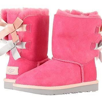 UGG Bow Leather Shoes Boots Winter Half Boots Shoes-5
