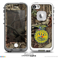 The FFA Real Woods Camouflage V4 Skin For The iPhone 4-4s, 5-5s or 5c LifeProof Case