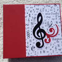 6 x 6  Music Scrapbook Album