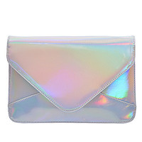 Iridescent Silver Clutch