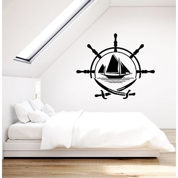 Vinyl Wall Decal Pirates Nautical Ship Sea Logo Crossed Swords Stickers (3365ig)
