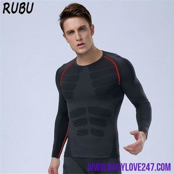 Compression Men  Long Sleeve Body Shaper Thermo Suit Set