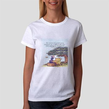 Classic Women Tshirt Winnie The Pooh Piglet Quote