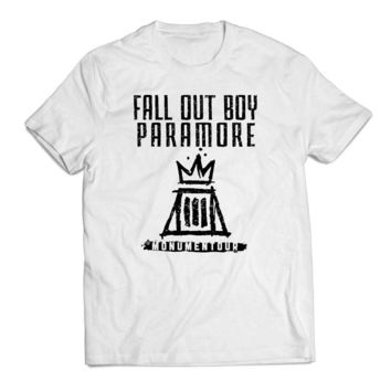 Fall out boy paramore white Clothing T shirt Men