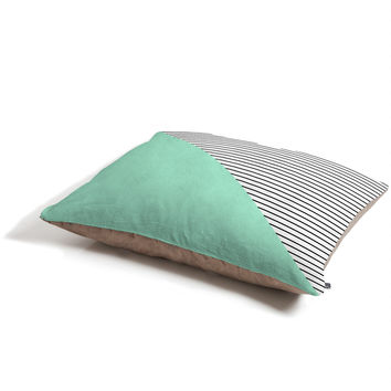 Allyson Johnson Mint and stripes Pet Bed
