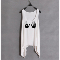 Naughty Hand Print Tank.......Follow me for more! :)
