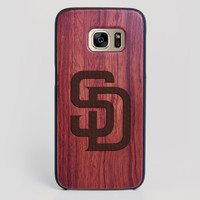 San Diego Padres Galaxy S7 Edge Case - All Wood Everything
