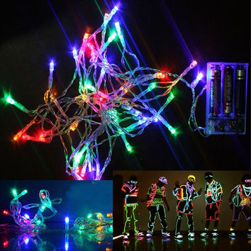 New AA Battery Colorful 4M 30 LED String Fairy Party Festival Decor Lamp Bulb