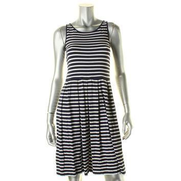 Lauren Ralph Lauren Womens Jersey Striped Casual Dress