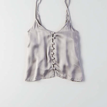 Don't Ask Why Satin Cami Tank, Silver