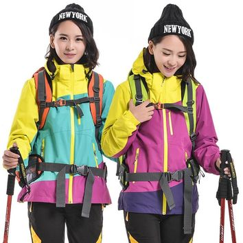 Snowboard Jacket Softshell and Fleece hiking Winter Outdoor Sport Outerwear Waterproof Warm Outfit Women skiing Coat Jackets