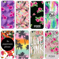2015 New Arrival Victoria/'s Secret PINK Hard PC funda case for iPhone 6 6S 6Plus Phone cases Free Shipping