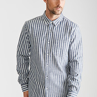 Striped Chambray Button-Down Shirt