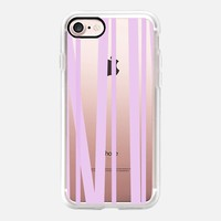 Lavender Stripes - Transparent/Clear background iPhone 7 Case by Lisa Argyropoulos | Casetify