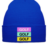 Golf Odd Future Wolf Gang Tyler The Creator Embroidery - Beanie Cuffed Knit Cap