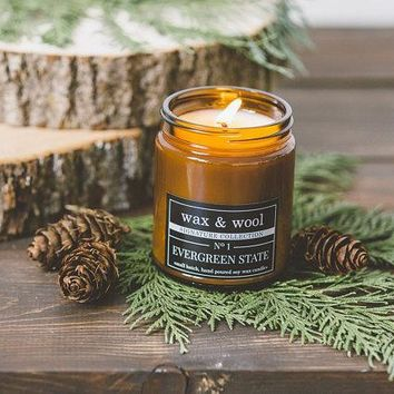 Evergreen State - 9 oz Pure Soy Wax Candle