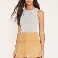 Marled Knit Crop Top | Forever 21 - 2000153524