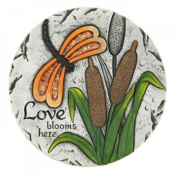 Set of 6 Love Blooms Here Dragon Fly Stepping Stones