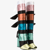 COLOUR BLOCK RIBBON BOOTS