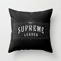 Supreme Leader Throw Pillow by Catalin Anastase
