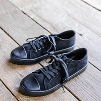 Narnia Lace Up Sneaker, Black