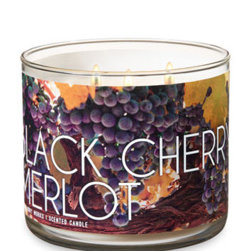 BLACK CHERRY MERLOT3-Wick Candle