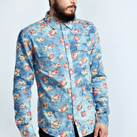 All Over Floral Denim Shirt