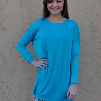 TRIBAL: We Found Love Tunic - Turquoise